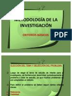 METODOLOGÍA DE LA INVESTIGACIÓN EDUCACIONAL