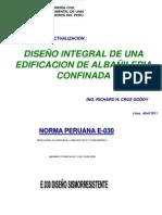DISEÑO INTEGRAL DE UNA EDIFICACION DE ALBAÑILERIA CONFINADA
