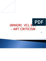 Art Criticism 1 -Topic 1