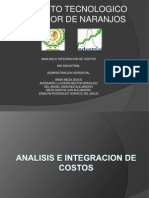 Analisis e Integracion de Costos