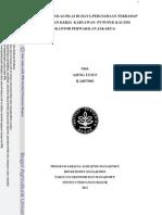 Pengaruh Nilai-nilai Budaya Perusahaan Terhadap Kepuasan Kerja Karyawan Pt Pupuk Kaltim (Kantor Perwakilan Jakarta)