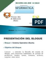 Bloque 1 Sistema Operativo Ubuntu