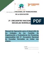 2o Encuentro Normales Snte 2011 Manual