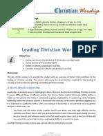 Leading Christian Worship