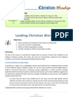 Leading Christian Worship