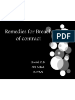 Remedies for Discharge of Contract
