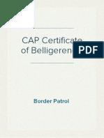 CAP Border Patrol Roster