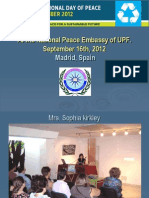 Madrid Report - International Day of Peace, 2012 - English.