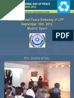 Madrid Report - International Day of Peace, 2012 - English.