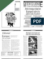 Versión impresa del periódico El mexiquense 26 septiembre 2012