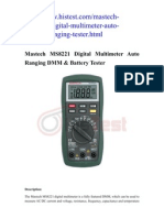 Mastech MS8221 Digital Multimeter Review
