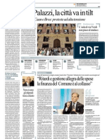 La Repubblica 26.9.12 - Assedio ai Palazzi, la città va in tilt