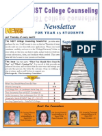 NIST College Counseling Newsletter for Year 13 Students September 27, 2012