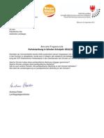 Parteiwerbung an Schulen - Landtagsanfrage & Antwort der BürgerUnion