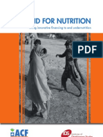 AID FOR NUTRITION 2 - Using innovative financing to end undernutrition