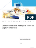 Online Consultation on Experts' Views on Digital Competence