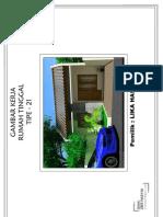 Gambar Kerja Sederhana Rumah Tipe 21