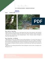 Vietnam Tours - Birds Watching 3 Days