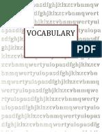English vocabulary