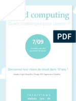 Cloud Computing, Quels Challenges Pour l'Avenir