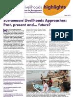 อดีต ปจบ อนาคต Sustainable Livelihoods Approaches