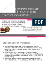 School Climate and Commitment