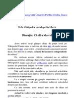Marcel Chelba - În discuţie pe Wikipedia