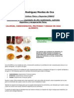 Alimentos Con Sus Proteinas, Hc, Lipidos y Calorias