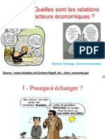 Thème 2 de PFEG :- Quelles sont les relations entre les agentséconomiques