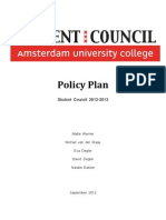 Policy Plan Student Council 2012-2013