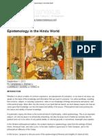 Epistemology in the Hindu World