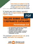 Fullet difusió Taller de paremiologia a VIlafranca del Penedès 2012