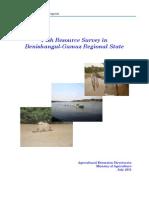 Fish Resource Survey in Benishangul-G. Region-Ethiopia