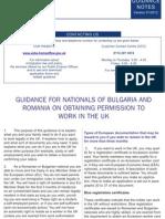 Guidance for Bulgaria Romania 0408
