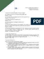 Exercícios termodinâmica - Psicrometria