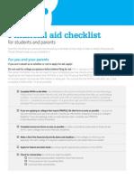 BigFuture Finanical Aid Checklist