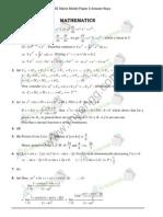 JEE Main Model Paper 5 Answer Key