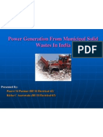 Power Generation From Municipal Solid Wastes in India 1