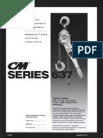 CM Series 637E Lever Hoist Manual