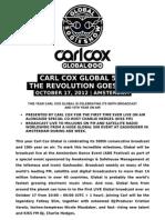 Carl Cox Global 500 Ade Press Release
