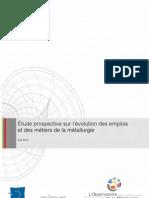 Etude Observatoire métallurgie 2012-2020