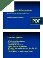 Aula Análise investimentos [Modo de Compatibilidade]