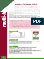 Fosfato Monopotasico Ficha