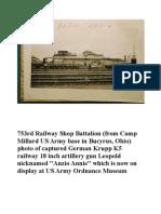 753rd Railway Shop Battalion Anzio Annie