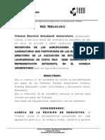 Resolución de Inscripción de los partidos políticos