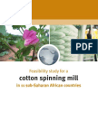 Feasibility Study for Cotton Spinning Mill
