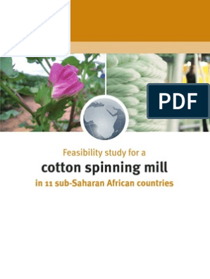 Feasibility Study for Cotton Spinning Mill | Spinning