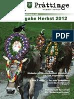 Tuxer Prattinge - Ausgabe Herbst 2012