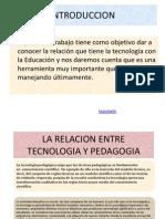 Diapositivas Hipervinculos Relacion de Tecnologia y Pedagogia,