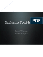 Food and Class Presentation